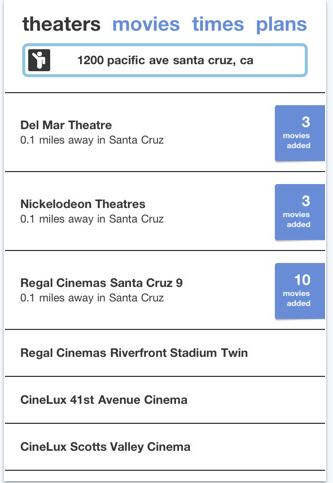 movie timings