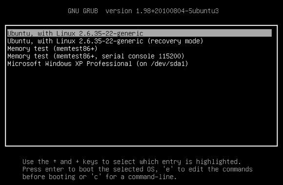 grub boot loader