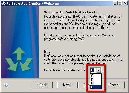 create portable apps