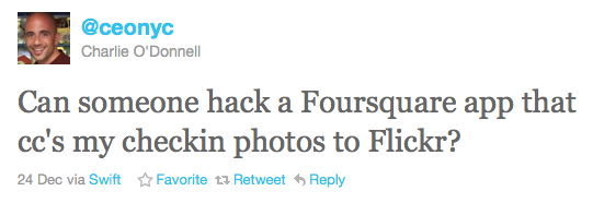 flickr foursquare