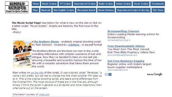 5 online resources for the aspiring scriptwriter