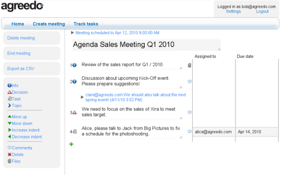 team meeting planner