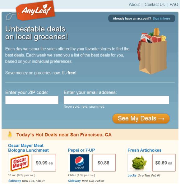 grocery deal finder