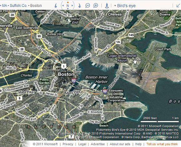 bing aerial maps
