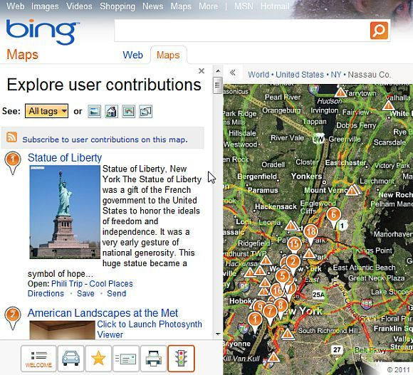 bing search maps