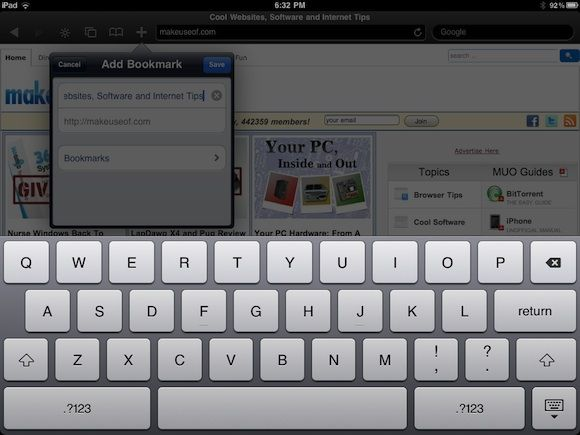 ipad browser