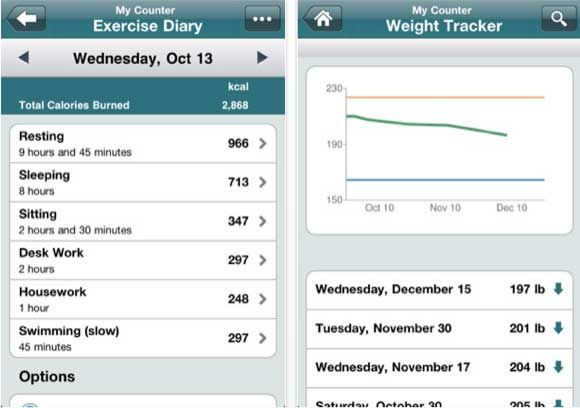 10 Great Health Apps for the iPhone and iPad calorieapp2