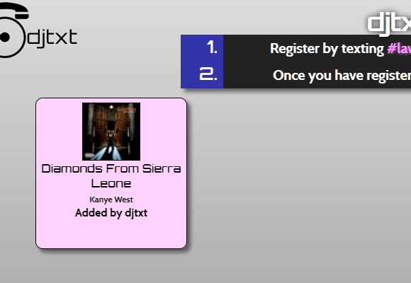 djtxt   Djtxt: Let Your Guests Create Good Party Music Lists via SMS