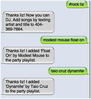 djtxt1   Djtxt: Let Your Guests Create Good Party Music Lists via SMS