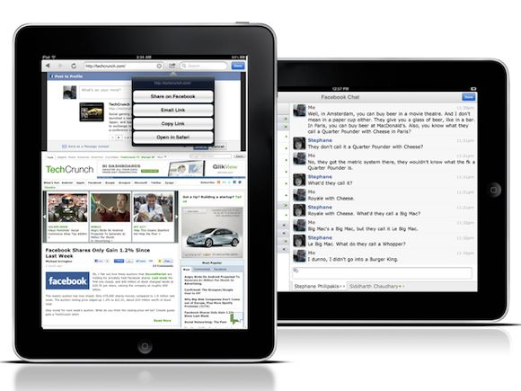 Top 20 Free Apps for Your New iPad facebook1