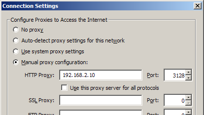 how to set up proxy server in ubuntu linux