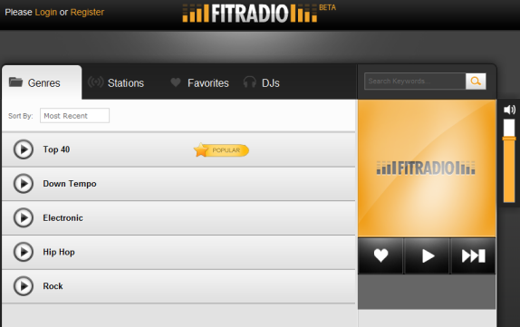fitradio   FITRadio: Streams A High Energy Music For Working Out
