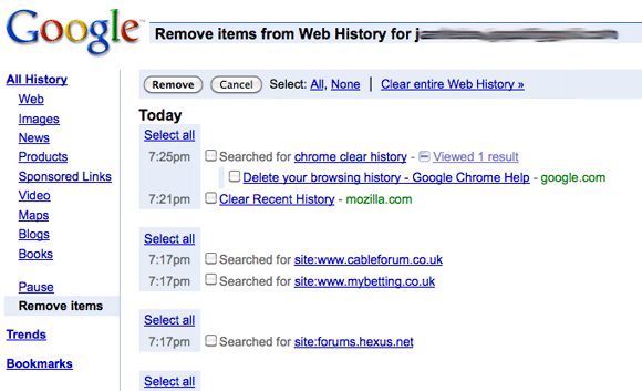 How to Delete Recent Searches Without Accidentally Leaving a Trace google edit web history