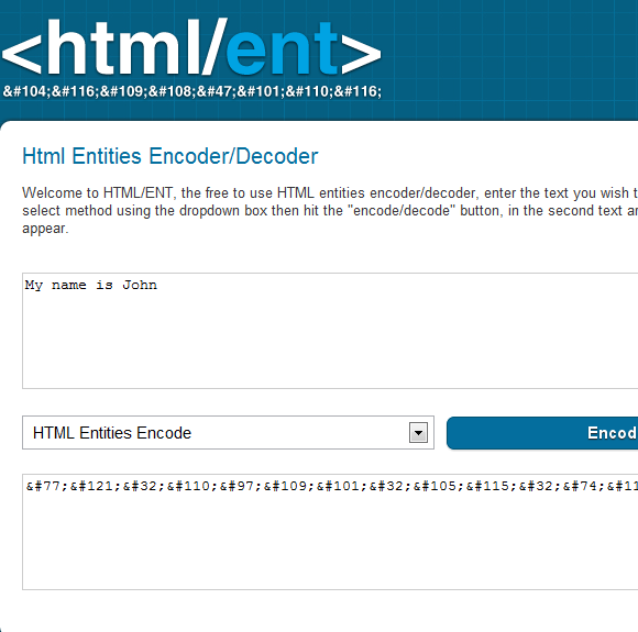 encode and decode html