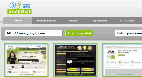take screenshots of websites online