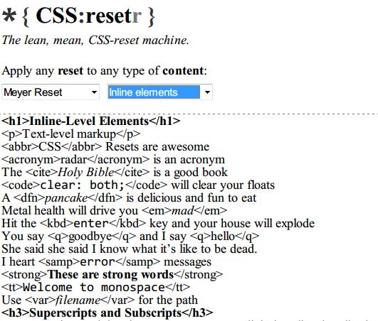 download css reset