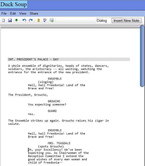 script writing program online