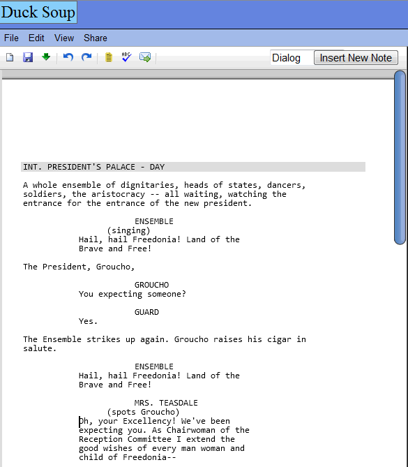 script writing software Adobe story.