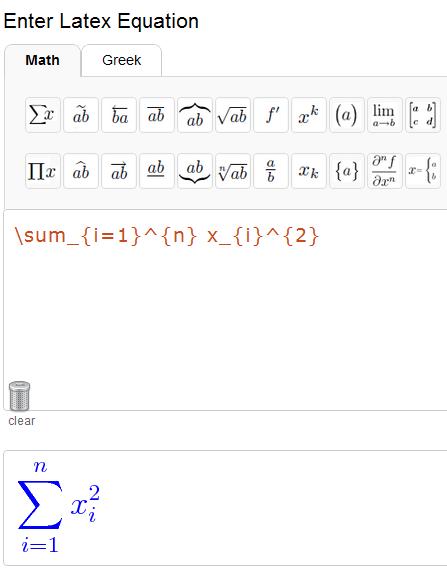 convert latex equations