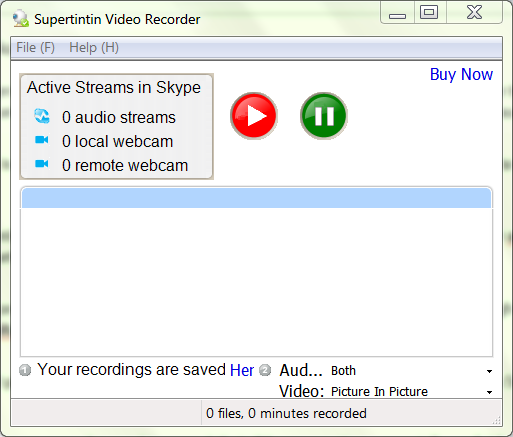 record video conversation on skype