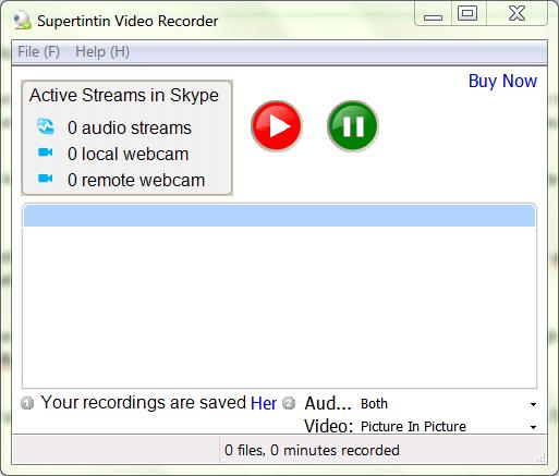 record video conversation on skype