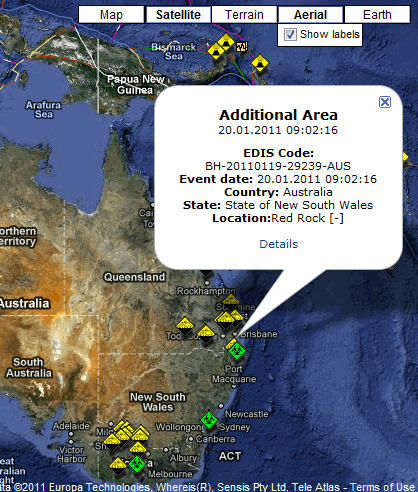 real time disaster map
