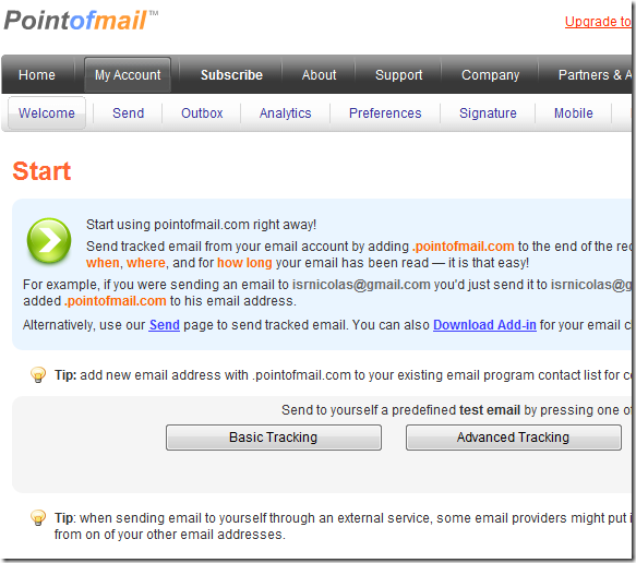 tracking sent emails