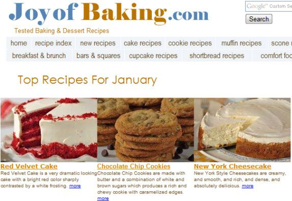 baking and dessert recipes
