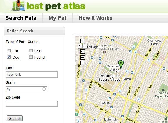 lostpetatlas   LostPetAtlas: Online Lost And Found Pets Directory