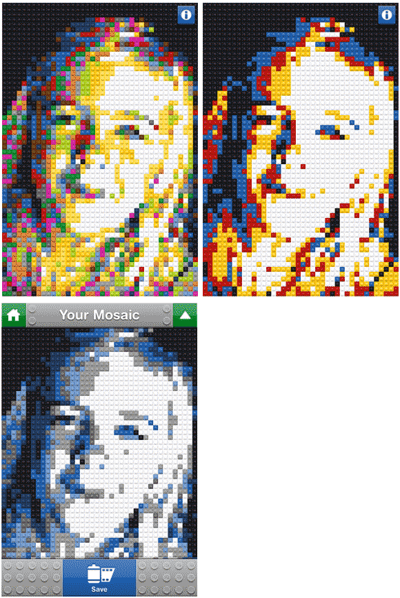 convert photos into lego