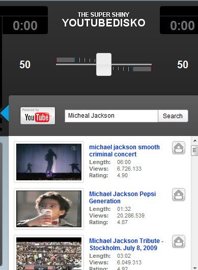 tube1   YouTube Disco: Play two Youtube videos at the same time & control their volume