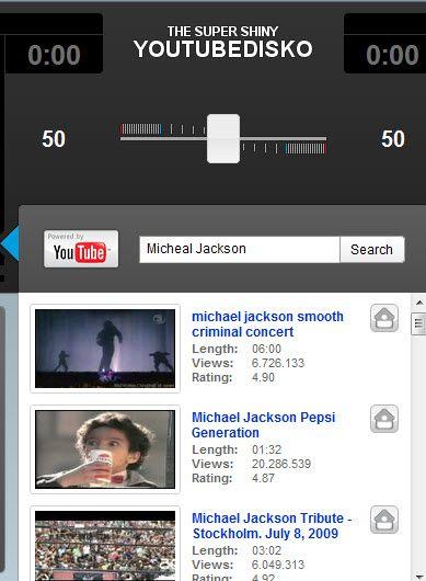 tube1   YouTube Disco: Play two Youtube videos at the same time & control their volume