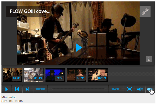 free embeddable video player,