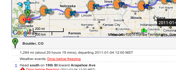 Wunderground Road Trip Maps The Weather Throughout Your Route Us Only