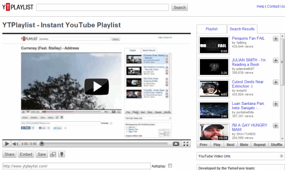 embed youtube playlists