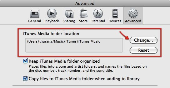 move itunes library external drive