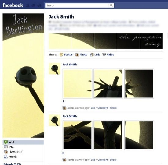 customize facebook profile