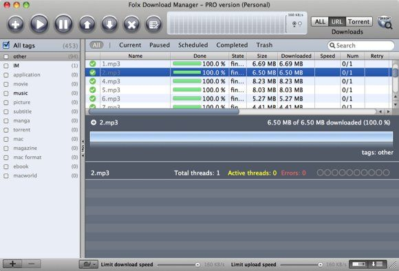 03 Folx Download Manager  PRO version  Personal
