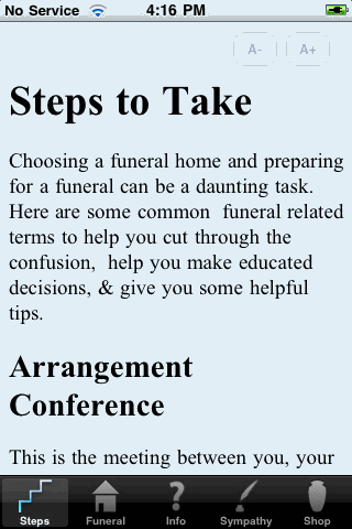 guide for funeral arrangements