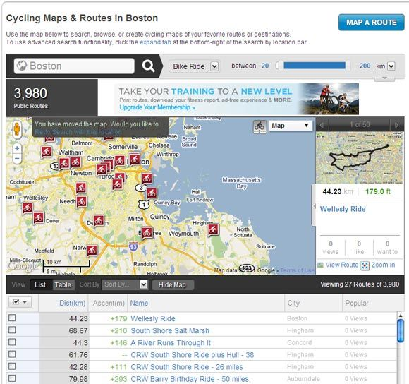 The Top Websites To Find Maps Of Bike Paths Near You - Map my bike