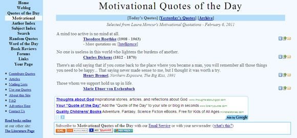 Top  Rss Feeds For Motivational Quotes Of The Day