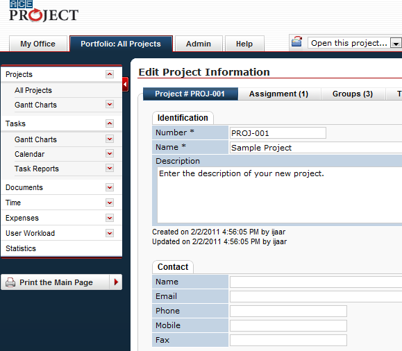 feature project management tool