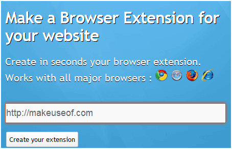 create browser extension