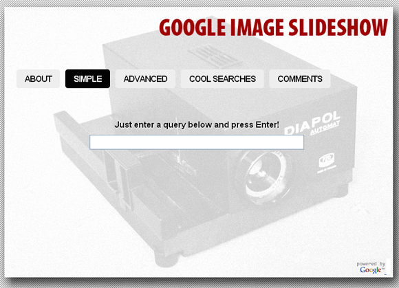 google image results slideshow