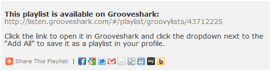 spotify playlists to grooveshark