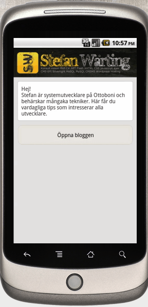 create android app for website