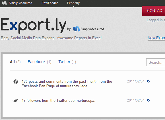 export your data