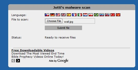 Jotti's Malware Scan: Web virus scanner to scan files you upload