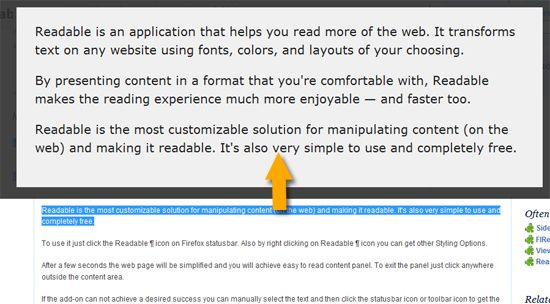 easy to read web pages