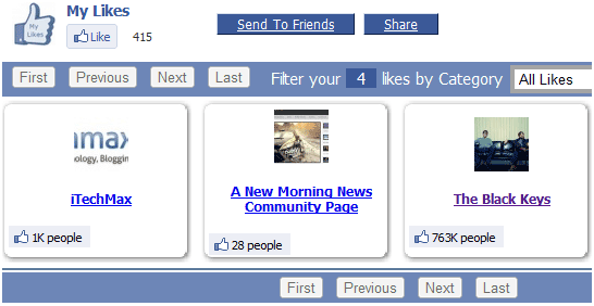 view your facebook likes